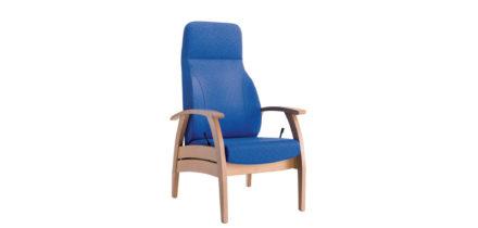 Blauwe relax zetel compact