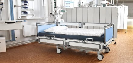 Stiegelmeyer sicuro pesa ziekenhuisbed gesplitste doorloophekken
